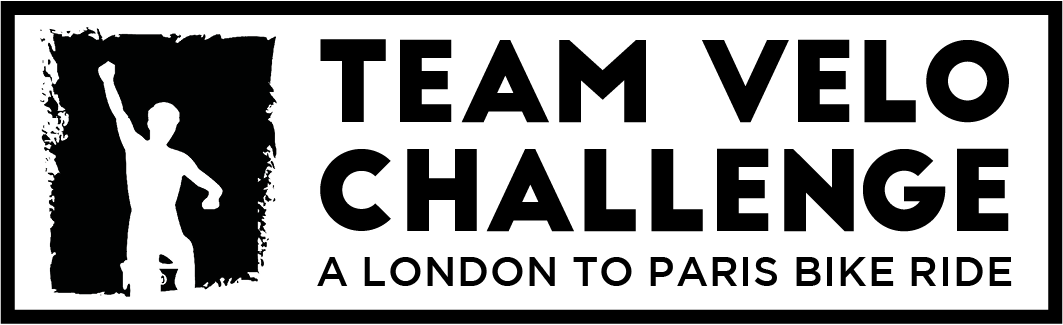 Black Logo for Team Velo Challenge - A London To Paris Bike Ride