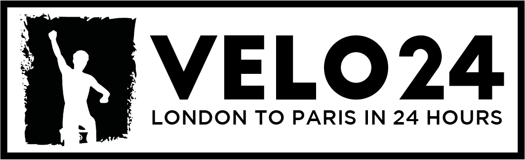 Black Logo for Velo 24 - London To Paris in 24 Hours